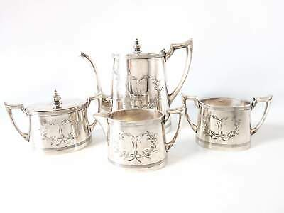 Antique Silver Plate Tea Set Quadruple Plate Great Condition! FB Rogers