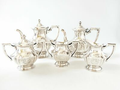 Antique Silver Plate Tea Set Coffee Service By Wallace Bros Silver Co V572
