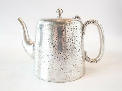 Antique Ashdown Park Hotel Silver Soldered Teapot England EXTREMELY RARE