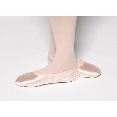 Tappers & Pointers Pink Satin Full Foot Ballet Shoes ADULT SIZES New