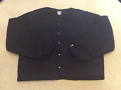 Nomex Aramid Flame Resistant  FR Snap Button Front Coat IIIA Black  Large