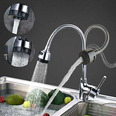 Kitchen Sink Modern Faucet Taps Pull Out Single Lever 360° Chrome Brass Faucet
