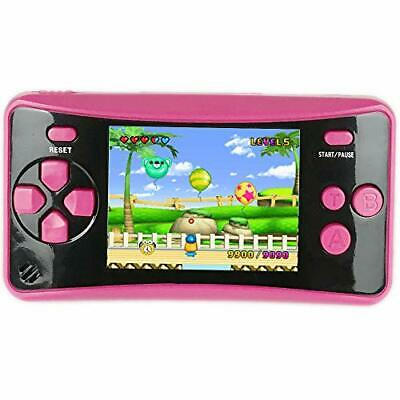 HigoKids Handheld Game Console for Kids Portable Retro Video Game (Rose Red)