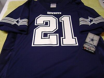 Dallas Cowboys Ezekiel Elliott Navy Blue  Youth LARGE  Jersey NEW  TEAM NFL