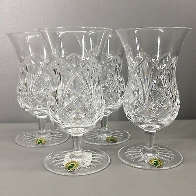 Waterford Crystal Waterville Rose Iced Beverage Glasses Set Of 4 Mint Orig. Box