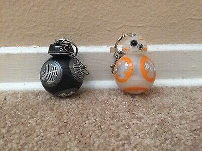 Disney Parks Star Wars Light Up Rebel BB-8 and BB-9E Imperial Droid Key Chain