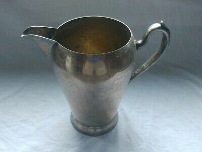 Vintage Academy Silver On Copper Pitcher