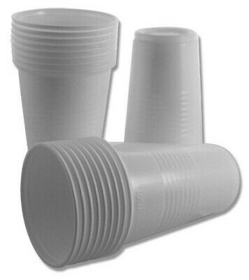 3000 x White Drinking Cup Serving Cup 0,2l Cup 200ml Plastic Cup Plastic Cup