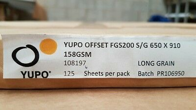 Yupo FGS 200 - 158 GSM (200 micron) Synthetic Paper 10 sheets A-4 210mmx297mm