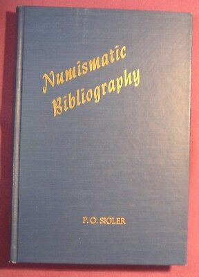 Numismatic Bibliography, P.O. Sigler, Classic, Vintage, Coin Collecting
