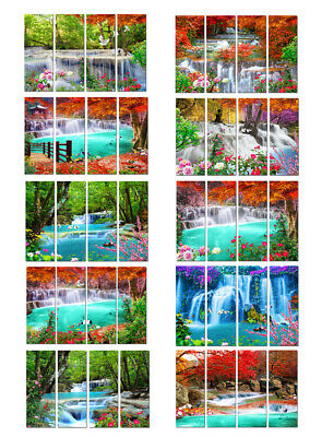 Wall Art Print Painting Waterfall Landscape Picture Canvas Living Room Home Deco