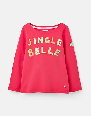 Joules Girls 207153 Festive Harbour Luxe 3 12 Years in DEEPPINK