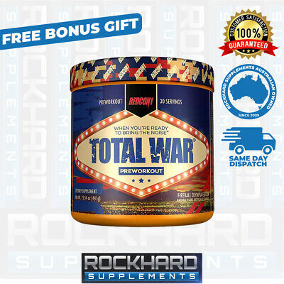 Redcon1 Total War Fireball Olympia Limited Edition Pre Workout Hi Stim