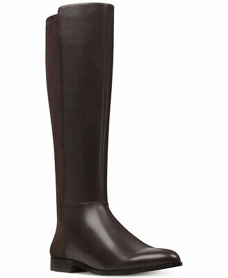 Nine West Womens Owenford Leather Pointed Toe Knee High, Dark Brown, Size 8.0 hQ