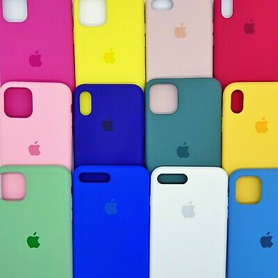 Funda Carcasa Silicona Silicone Case logo Apple para iPhone 7/7 Plus/X/Xr/Xs Max