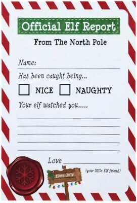 25 x Christmas Elf Report Cards Kids Novelty Letter From The North Pole