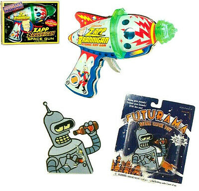 FUTURAMA Atomic Ray Gun + Clicker Figural de chapa Rocket USA