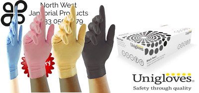 Nitrile Coloured Disposable Gloves Powder Free Tattoo Car Valeting Mechanic