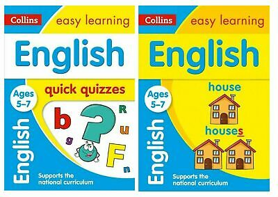 Ks1 Easy Learning English Ages 5-7 2 Book Bundle For Children Who Need Xtra Help