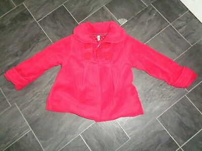 girls red next coat- age 2-3 years- excellent condition