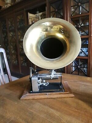 seltener Excelsior Phonograph mit 4 Walzen