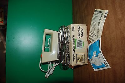 Vintage Hamilton Beach Scovill Portable Hand Mixer Model 97AL Almond