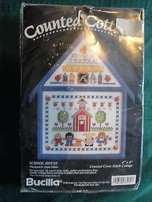 (2219)  cross stitch kit ~ Back to school ~ 4 Christmas! Complete with frame!