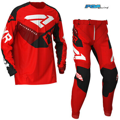 New 2020 FXR Clutch YOUTH MX Pant and Shirt Kit Combo Red/Black/Maroon