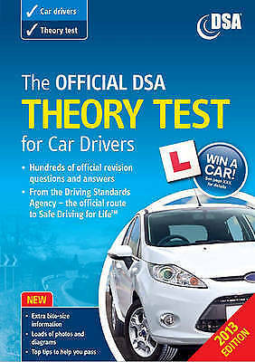 """""""AS NEW"""" The Official DSA Theory Test for Car Drivers Book 2013 edition, Driving"""