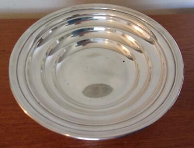 Reed & Barton Sterling Silver Bowl 9.5 Oz T 1934 Mark Simple Art Deco Design