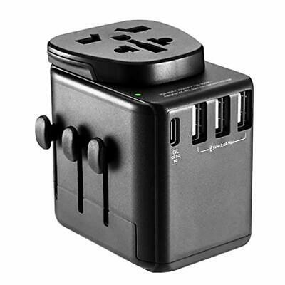 Upgraded International Travel Adapter, Universal Power Adapter All-in-on