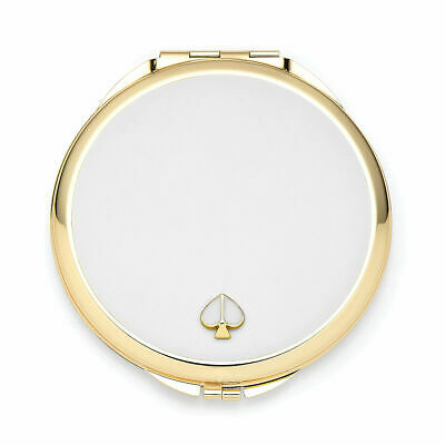 Kate Spade 'Spade Street' White Compact, New in Box