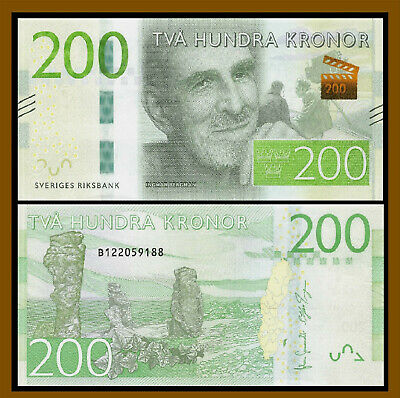 Sweden 200 Kronor, ND 2015 P-72 New Design Uncirculated Unc