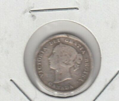 1884 Canada Five Cents Silver