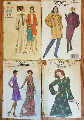 "1970's 80's Vogue Brand Sewing Patterns Womens 31 1/2"" Bust size 8 You Choose"