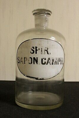 XXL Apotheker Flasche  pharmacy pharmacie bottle Sapon. Camph.