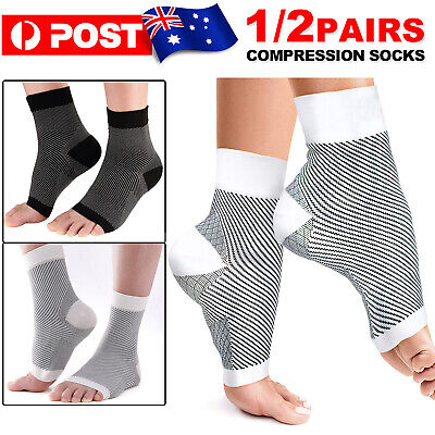 Pairs 15-30mmHg Medical Compression Socks Support Stockings Travel Flight Socks