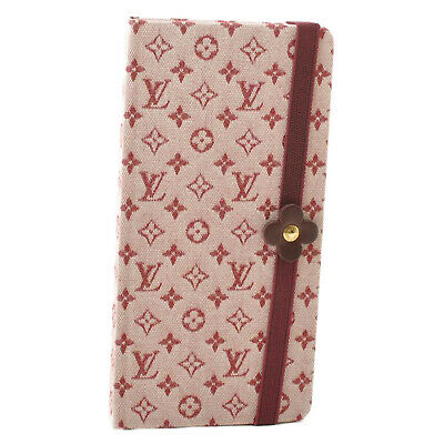 LOUIS VUITTON Monogram Mini Carne GM Red Note Book R20835 Auth 9466