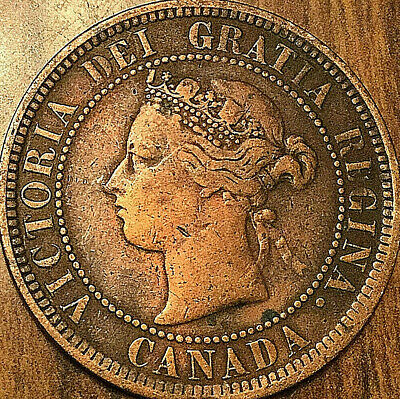 1886 CANADA LARGE CENT LARGE 1 CENT PENNY - Obverse #1