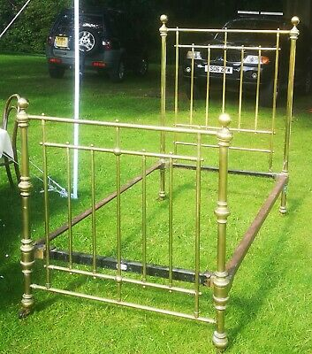 Late Victorian Maple & Co Brass Bed Frame