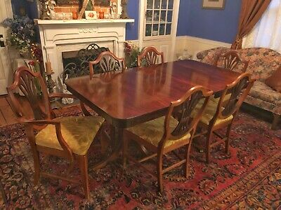 Surprising Set Of 6 Mahogany Chippendale Ribbon Back Dining Chairs Short Links Chair Design For Home Short Linksinfo