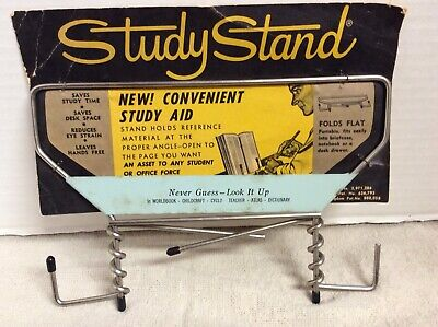 Vintage Mid Century Metal Study Stand.  Holds Books Music Magazines  Made In USA