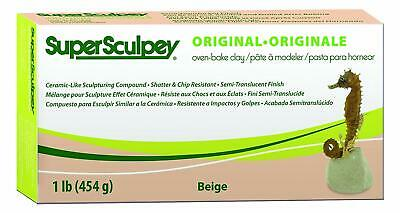 POLYFORM PRODUCTS COMPANY SUPER SCULPEY POLYMER CLAY 1 POUND-BEIGE ARGILLA (jg9)