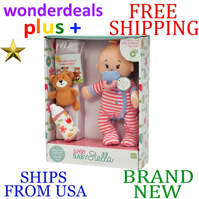 *New* MANHATTAN TOY Wee Baby Stella Sleepy Time Scents Set Magnetic Bottle Soft
