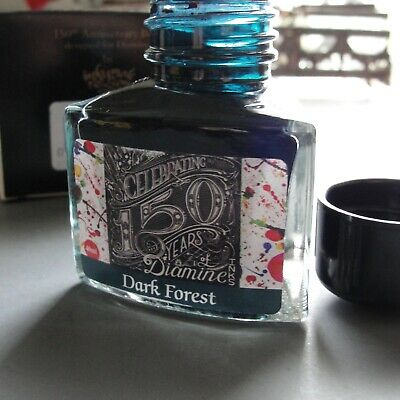 New 40ml Dark Forest Green DIAMINE 150 YEAR INK Fountain Pen Ink England Boxed