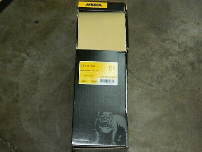 "New Mirka 23-145-800 Foam Sanding Pad 4.5' X 5"" P800 Goldflex Soft 200 Pieces"