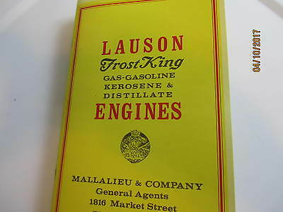 John Lauson frost King  Engine Catalog 1916