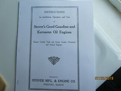 Stover Gas & Kerosene Engine Instruction Manual