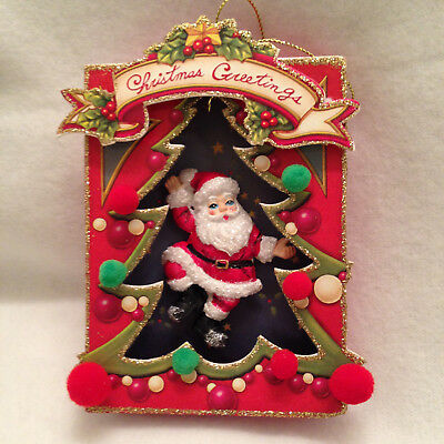 Christmas Vintage Style Old Fashioned Replica Tree Ornament Cardboard Resin 5""