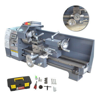 """Variable-Speed Mini Metal Lathe Bench With Digital Control 750W 8*16"""" Efficient"""